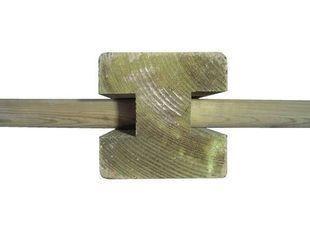 POTEAU H 9 x 9 intermediaire en bois - Voir en grand