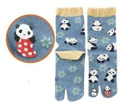 Chaussettes japonaises tabi, imprimé panda - Voir en grand
