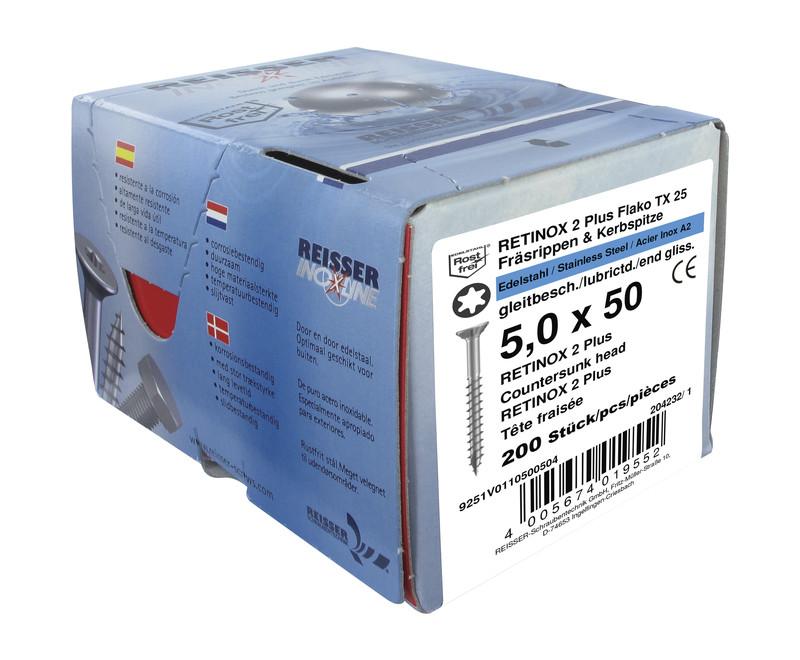 vis reisser® boite de 200 vis 5 x 50 - Voir en grand