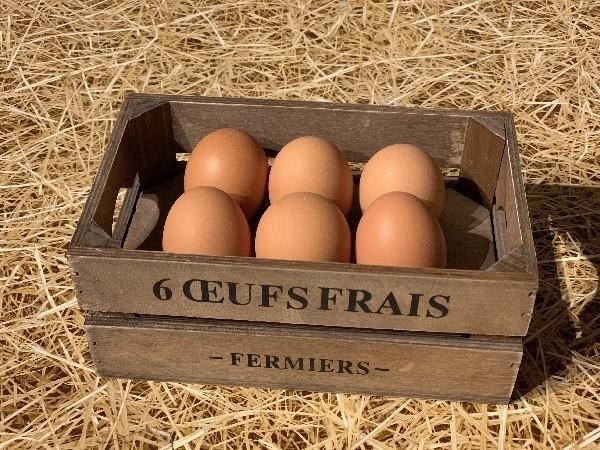 Boîte à ½ufs en bois - Déco - FRUIROUGE ET COMPAGNIE - L'EPICERIE FERMIERE - Voir en grand