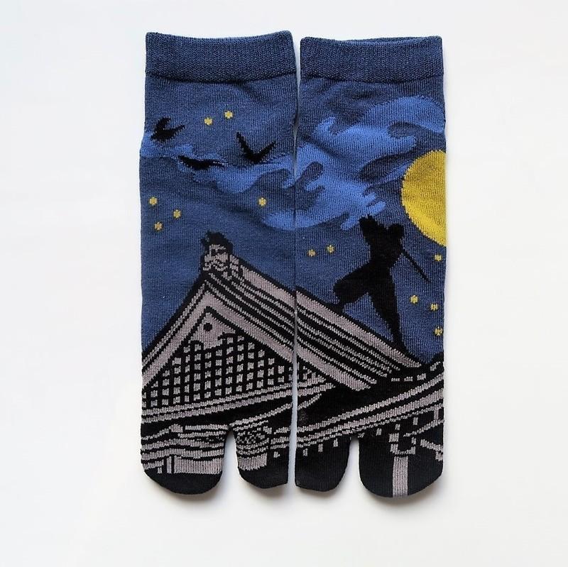 Chaussettes japonaises tabi, Ninja taille 40 à 44 - Voir en grand