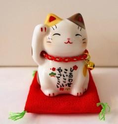 Chat manekineko blanc  - Compotoir du Japon