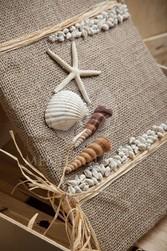 Livre d'or coquillage et sable - Voir en grand