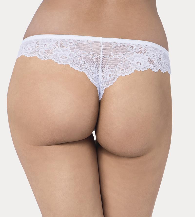 Triumph Tempting Lace tanga brésilien dentelle travalliée blanc - Voir en grand