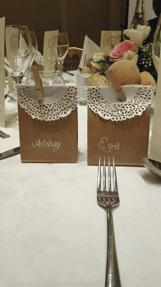 Cadeau invité Mariage 'Sachet Kraft et Pain d'épices' - Cadeaux Gourmands Mariage - La Grèce Gourmande - Voir en grand