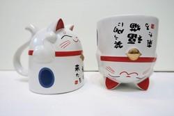 Mug manekineko bleu - Comptoir du Japon - Voir en grand