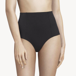 Chantal Thomass 211 Honoré culotte taille haute maille côtelée élastiques imprimé confort noir