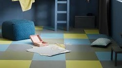 chambre d'enfant sol Marmoleum click Forbo - Naturel21 - Voir en grand