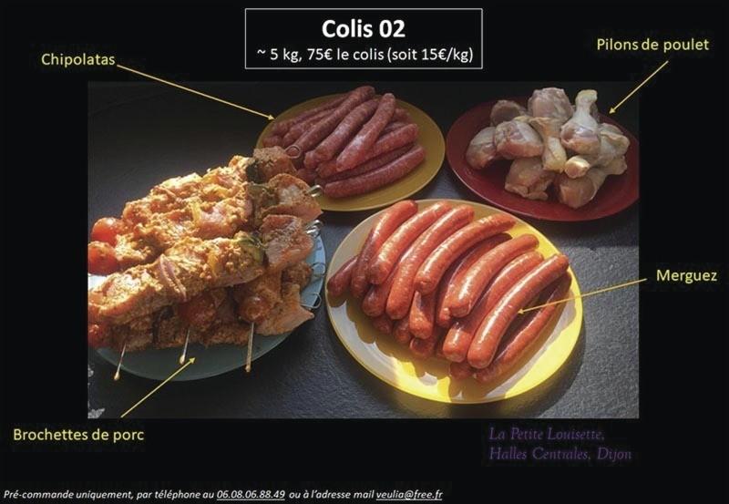 Colis Spécial Barbecue - Viandes - commande pour particuliers - LA PETITE LOUISETTE - Voir en grand