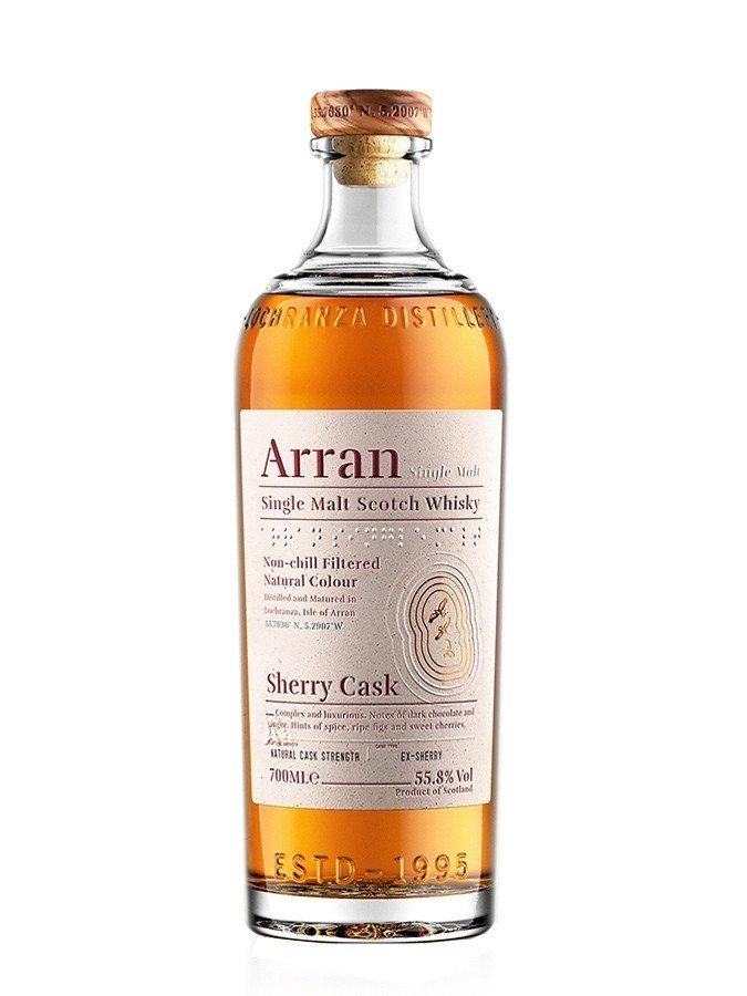 Arran sherry cask Whiskies & Spirits - Voir en grand