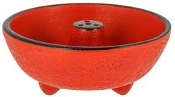 Brûle-encens en fonte rouge - Comptoir du Japon - Voir en grand