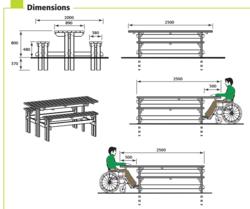 table pique nique forestiere