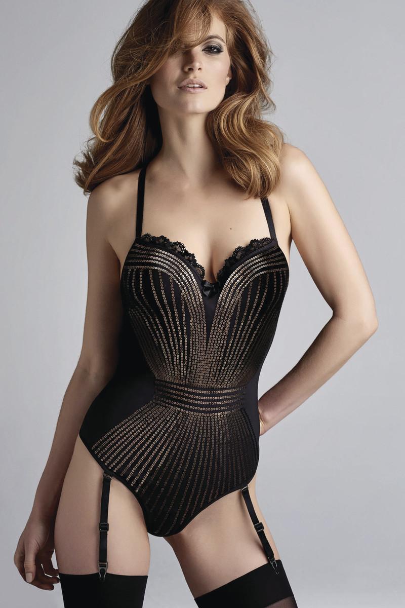 Marlies Dekkers hollywood glam lingerie luxe sequins body sexy porte-jarretelles luxe - Voir en grand
