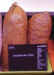 Saucisse fumée au chou - Produits de choucroute - LA PETITE LOUISETTE - Voir en grand