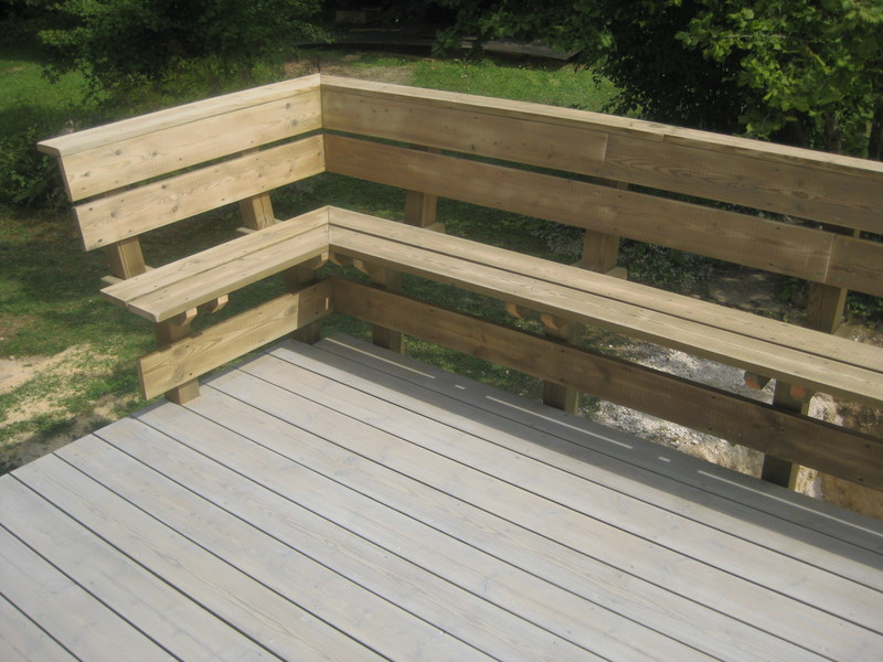 lame de terrasse en pin autoclave avec textol gris lame lisse @lebrotceline - Voir en grand