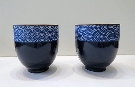 Tasse à thé japonaise bleu nuit - Comptoir du Japon - Voir en grand
