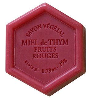 savon-25g-miel-thym-fruits-rouges - Voir en grand