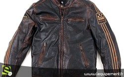 Blouson moto en cuir HELSTONS ACE OLDIES ANGEL'S MOTOS DIJON - Voir en grand