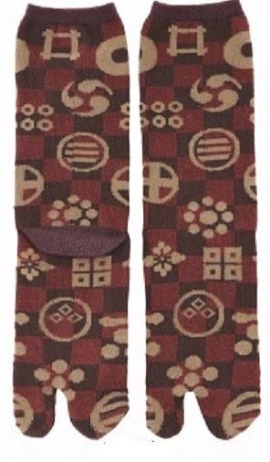 marron kamon - Chaussettes japonaises tabi - Comptoir du Japon - Voir en grand