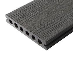 brooklyn gris beton coté texturé bois - Voir en grand