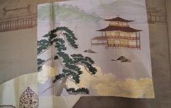Veste japonaise traditionnelle Haori homme brun en soie, Détail doublure - Comptoir du Japon - Voir en grand