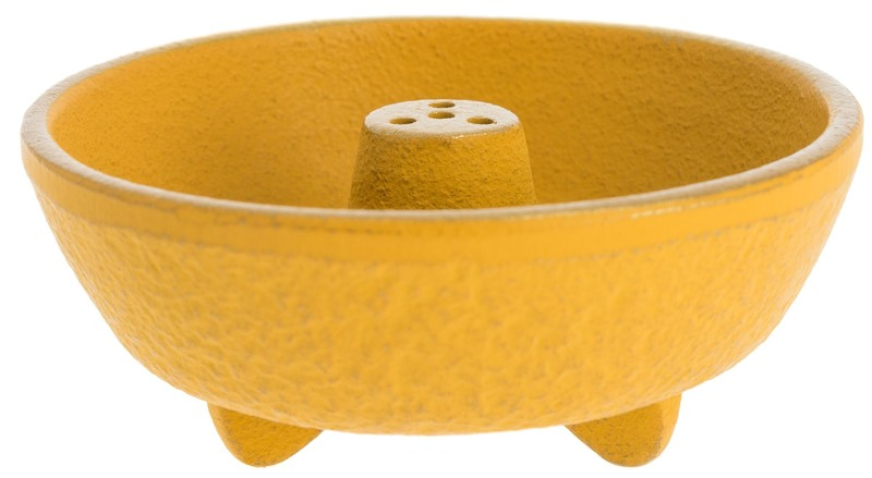 Brûle-encens en fonte jaune - Comptoir du Japon - Voir en grand