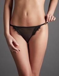Atelier amour irrésistible attraction culotte dentelle voile nylon transparent sexy séduction - Voir en grand