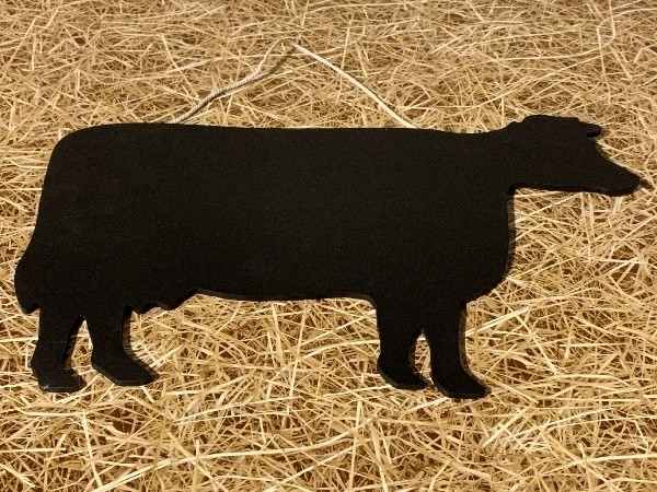 Tableau-noir-animal-vache-Fruirouge-et-Cie - Voir en grand