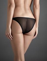 Atelier amour insoutenable légèreté ouvert côté voile nylon transparent noir sexy - Voir en grand
