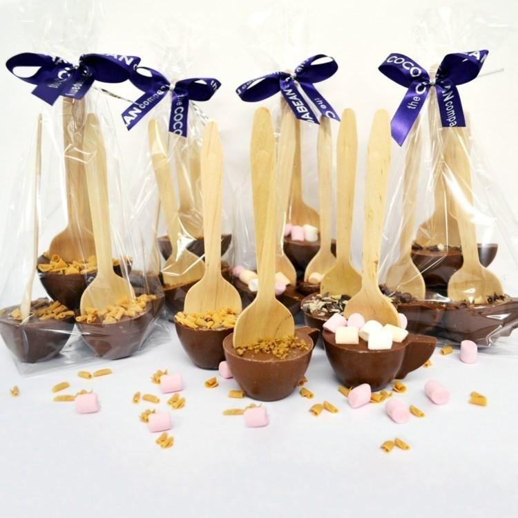 Cuillères 'Chocolat Chaud' - Cadeaux Gourmands Mariage - La Grèce Gourmande - Voir en grand