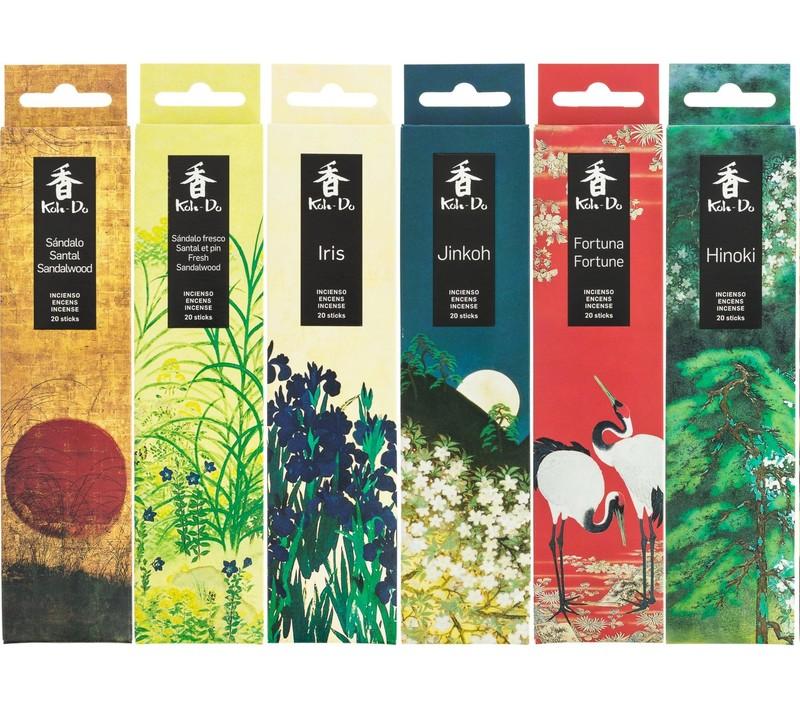 Encens Japonais, Santal, Santal et pin, Iris, Jinkoh, Fortune, Hinoki - Comptoir du Japon - Voir en grand