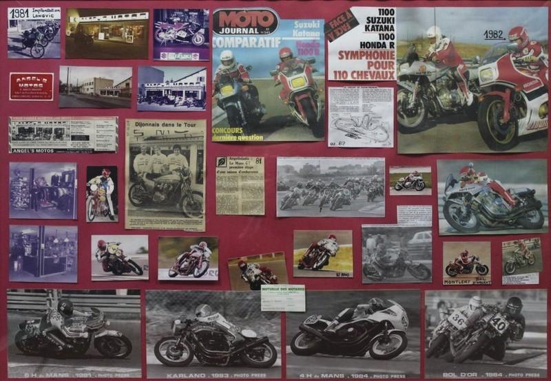 ESSAI 1982 de la 1100 KATANA 1981 fait par ANGEL'S avec moto journal  - Voir en grand