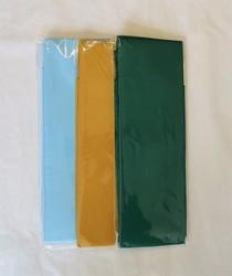 Ceinture obi unie - Bleu ciel, Jaune moutarde, Vert foncé - Comptoir du Japon