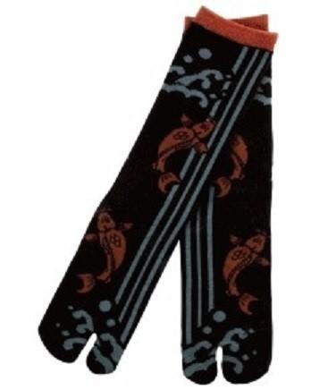 noir carpe - Chaussettes japonaises tabi - Comptoir du Japon - Voir en grand