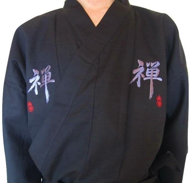 Yukata Zen noir - Comptoir du Japon - Voir en grand