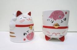 Mug manekineko poisson rose - Comptoir du Japon - Voir en grand