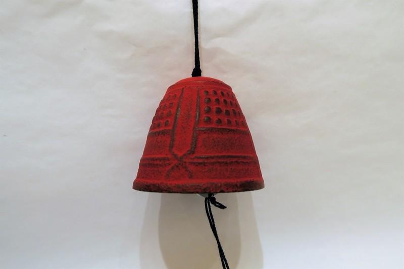 Petite cloche à vent rouge - Comptoir du Japon - Voir en grand