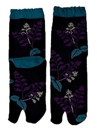 Chaussettes japonaises tabi, salvia - Comptoir du Japon - Voir en grand