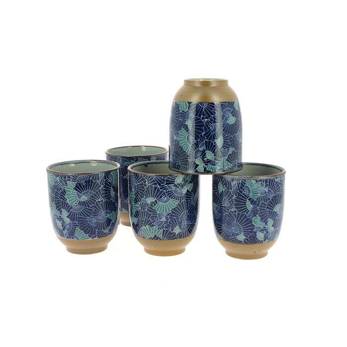 Tasse à thé à motif d'éventail - Comptoir du Japon - Voir en grand