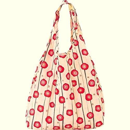 Eco-bag, sac de courses à motif japonais - blanc umé - Comptoir du Japon - Voir en grand