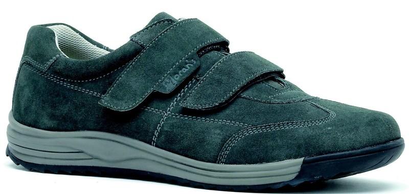 Tennis Velcro - Modèle SAVIK gris - Chaussures de ville homme - CHAUSSURES ROBUST - Voir en grand