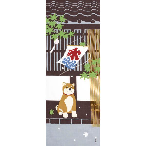 Tenugui décoratif, Chien shiba - Voir en grand