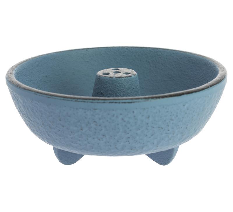 Brûle-encens en fonte bleu clair - Comptoir du Japon.jpg - Voir en grand