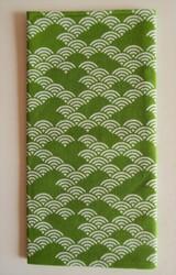 Tenugui, serviette traditionnelle japonaise, vagues - Comptoir du Japon - Voir en grand