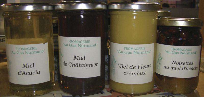 Les Miels Sélection « Au Gas Normand » - Bourgogne - FROMAGERIE AU GAS NORMAND - DIJON - Voir en grand