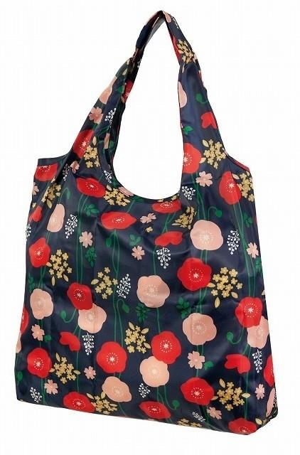 Eco-bag, sac de courses à motif japonais - coquelicots - Comptoir du Japon - Voir en grand