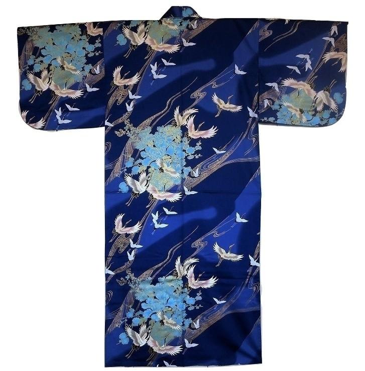 Kimono grues en vol - Comptoir du Japon - Voir en grand