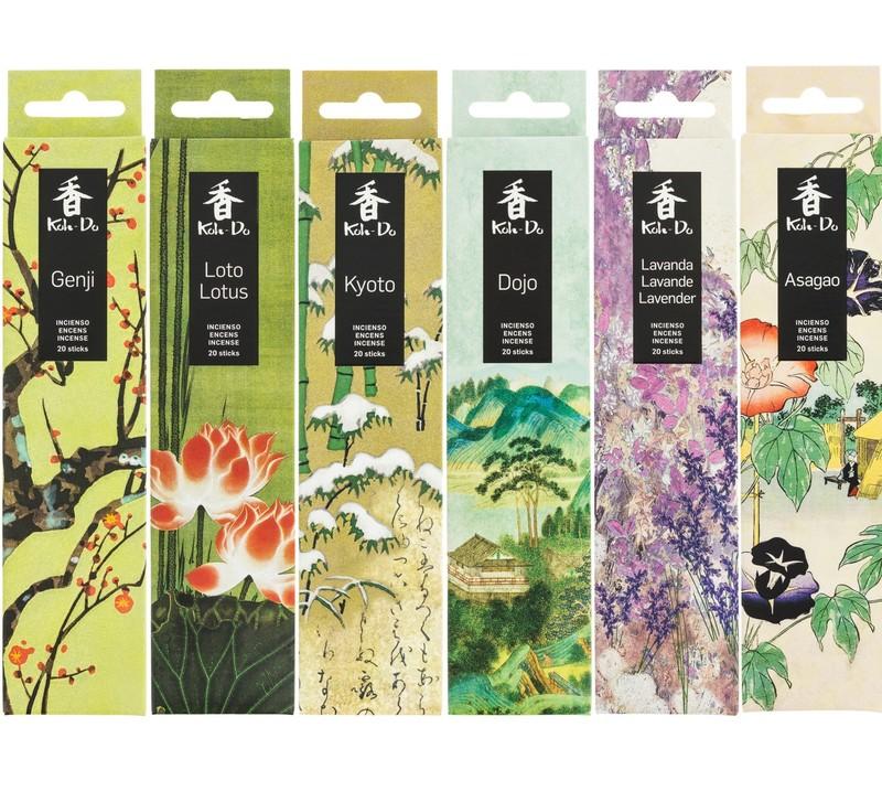 Encens Japonais, Genji, Lotus, Kyoto, Dojo, Lavande, Asagao - Comptoir du Japon - Voir en grand