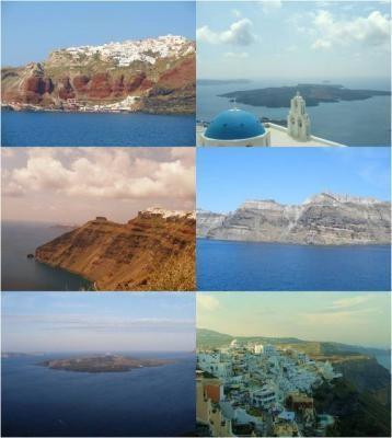 l'île de Santorin en Grèce santorini  - Voir en grand