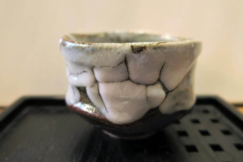 Bol à matcha cérémonie du thé brun rose - Voir en grand